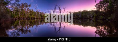 Reflections On The Margaret River - Stock Photo