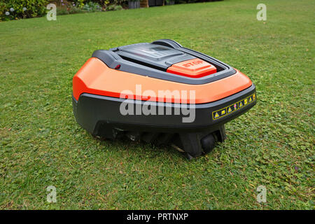 Hi Tech Robot completely Automatic lawn mower - Stock Photo