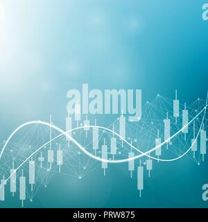 Stock market or forex trading graph. Chart in financial market vector illustration Abstract finance background - Stock Photo