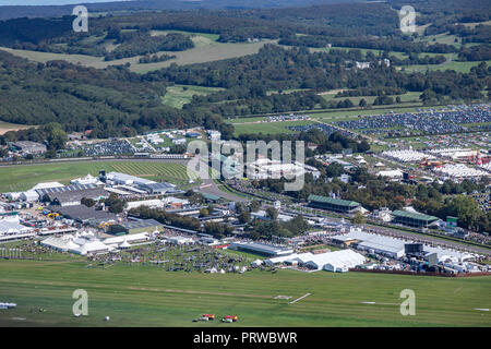 2018 Goodwood Revival from the Air. - Stock Photo