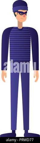 thief man avatar character - Stock Photo