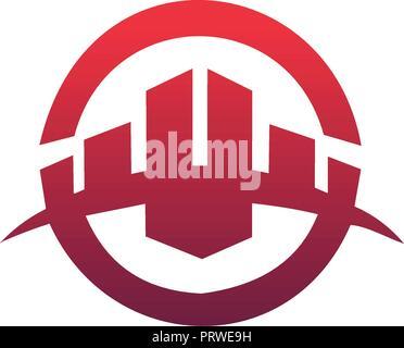 building logo design concept template. Architectural Construction logo design concept template - Stock Photo