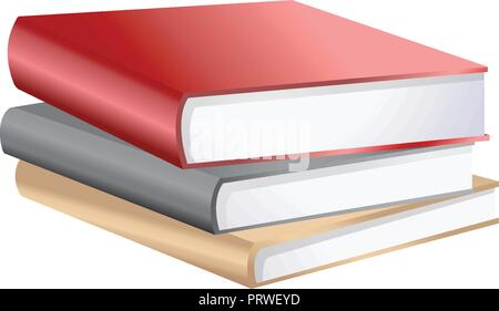 stack books . Vector Illustration Isolated on White Background - Stock Photo