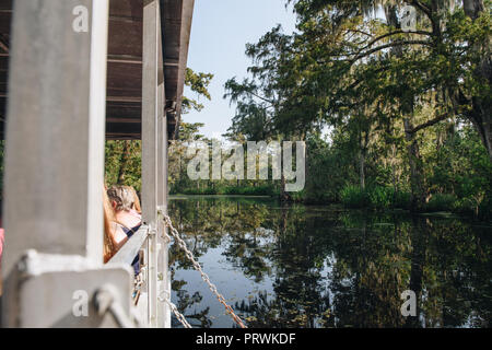 Swamp Tour in New Orleans - Stock Photo