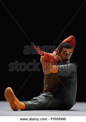 London UK 3rd October 2018 William Forsythe A Quite Evening of Dance at Sadlers Wells Theatre London UK  Rauf Yasit Credit: Leo Mason sports photos/Alamy Live News - Stock Photo