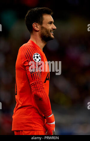 London, UK. 3rd Oct 2018. Hugo Lloris of Tottenham during the Group B match of the UEFA Champions League between Tottenham Hotspurs and FC Barcelona at Wembley Stadium on October 03, 2018 in London, England. Credit: José Bretón/Alamy Live News - Stock Photo