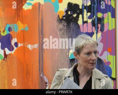 London, UK. 4th Oct 2018. Preview of the Frieze Art Fair 2018, London, UK Credit: Nastia M/Alamy Live News - Stock Photo