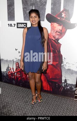 Los Angeles, CA, USA. 27th Sep, 2018. Kumari at arrivals for THE WALKING DEAD SEASON 9 Premiere, DGA Theater Complex, Los Angeles, CA September 27, 2018. Credit: Priscilla Grant/Everett Collection/Alamy Live News - Stock Photo
