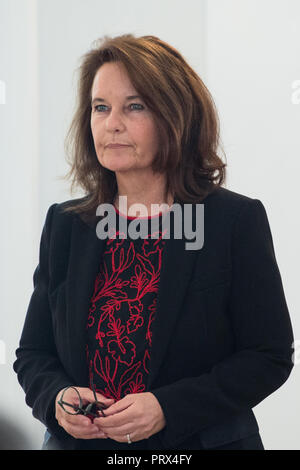 Berlin, Deutschland. 02nd Oct, 2018. Caroline LINK (Munich/Bavaria, film director). Honoring and awarding the Order of Merit of the Federal Republic of Germany to citizens and citizens by the Federal President at Schloss Bellevue, Berlin, Germany on 02.10.2018. | Usage worldwide Credit: dpa/Alamy Live News - Stock Photo