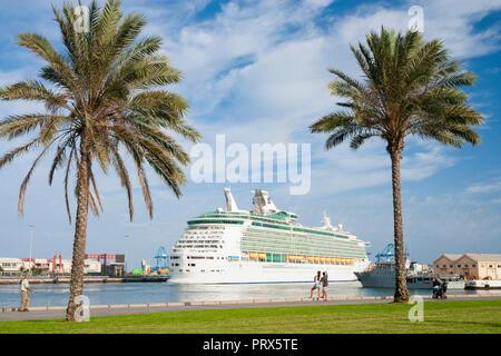 Navigator of the Seas cruise ship in Las Palmas port on Gran Canaria,Canary Islands, Spain - Stock Photo
