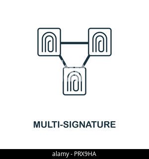 Multi-Signature icon. Monochrome style design from blockchain collection. UX and UI. Pixel perfect multi-signature icon. For web design, apps, softwar - Stock Photo