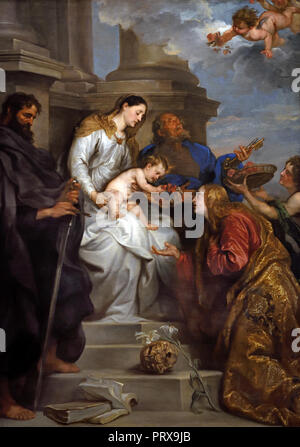 Mary with Child and Saint Rosalie, Peter and Paul 1629 Antoon - Anthony van Dyck 1599 - 1641 Flemish Belgian Belgium - Stock Photo