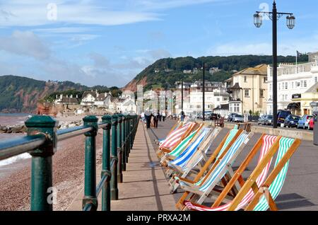 The seafront at Sidmouth on a summer's day east Devon England UK - Stock Photo
