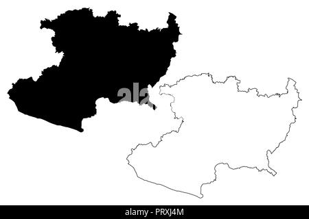 Michoacan (United Mexican States, Mexico, federal republic) map ...