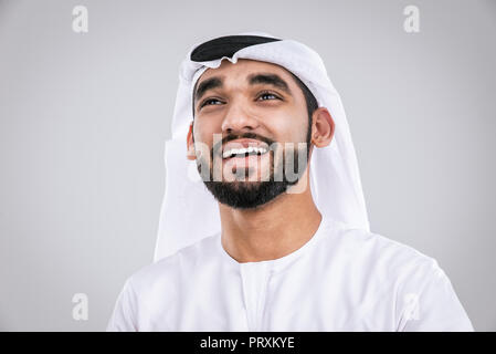 Arabic handsome man studio portraits - Stock Photo