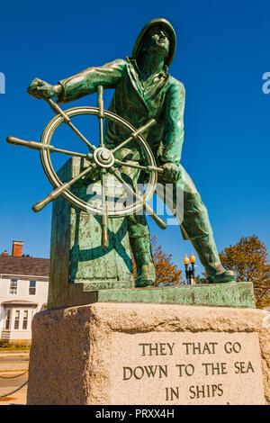 Fishermen's Memorial _ Gloucester, Massachusetts, USA - Stock Photo