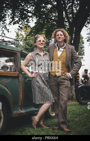 Goodwood Revival Vintage Fashion 2018 - Stock Photo