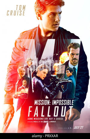 Prod DB © Paramount Pictures - Bad Robot - Skydance Media - TC Productions / DR MISSION: IMPOSSIBLE - FALLOUT de Christopher McQuarrie 2018 USA teaser - Stock Photo