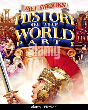 Prod DB © Brooksfilms / DR LA FOLLE HISTOIRE DU MONDE HISTORY OF THE WORLD de Mel Brooks 1981 USA jaquette du Blu-ray americain histoire; history; par - Stock Photo