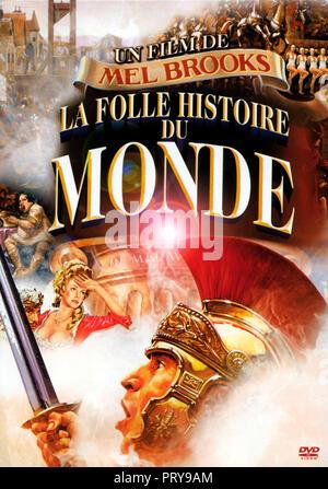 Prod DB © Brooksfilms / DR LA FOLLE HISTOIRE DU MONDE HISTORY OF THE WORLD de Mel Brooks 1981 USA jaquette du DVD français histoire; history; parodie; - Stock Photo