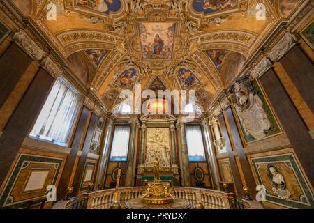 Rome, Italy - March 25, 2018: Basilica di Santa Maria Maggiore in Rome, Italy. Santa Maria Maggiore, is a Papal major basilica and the largest Catholi - Stock Photo