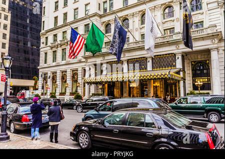 The Plaza Hotel Manhattan _ New York, New York, USA - Stock Photo