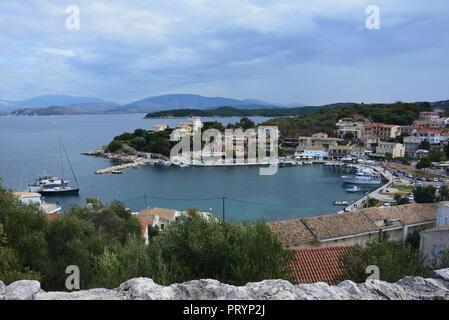 Kassiopi Bay, Corfu - Stock Photo