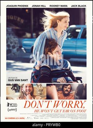 Prod DB © Anonymous Content - Big Indie Pictures - Iconoclast / DR DON'T WORRY, HE WON'T GET FAR ON FOOT de Gus Van Sant 2018 USA affiche française av - Stock Photo