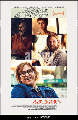 Prod DB © Anonymous Content - Big Indie Pictures - Iconoclast / DR DON'T WORRY, HE WON'T GET FAR ON FOOT de Gus Van Sant 2018 USA affiche americaine a - Stock Photo
