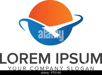Sun Bird Logo logo design concept template - Stock Photo