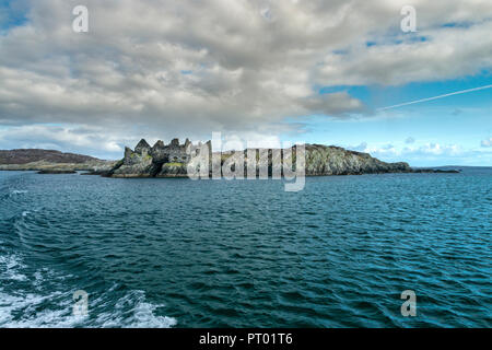 On the small remote island of Inisbofin Cromwell's Barracks lies within a star shaped fort. Originally built in the 16th century by Cromwell's regime - Stock Photo