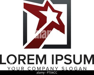 star square logo design concept template - Stock Photo