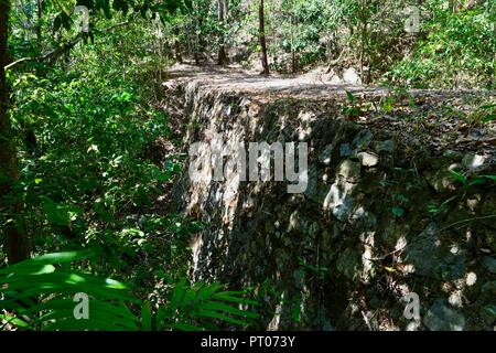 Stone-pitched bridge made from Scottish stone at Dalrymple gap, QLD, Australia - Stock Photo