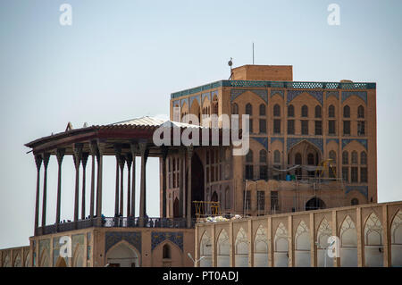 The Ali Qapu Palace in Imam Square in Isfahan, Iran - Stock Photo