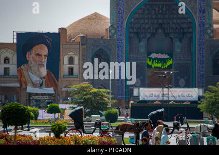 Imam Mosque in Imam Square in Isfahan, Iran - Stock Photo