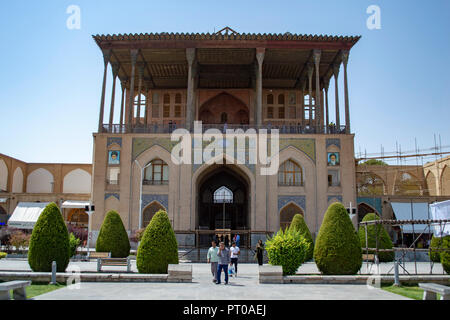 Ali Qapu Palace in Imam Square in Isfahan, Iran - Stock Photo