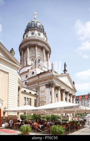 French Cathedral, Gendarmenmarkt, Berlin, Germany, Europe - Stock Photo