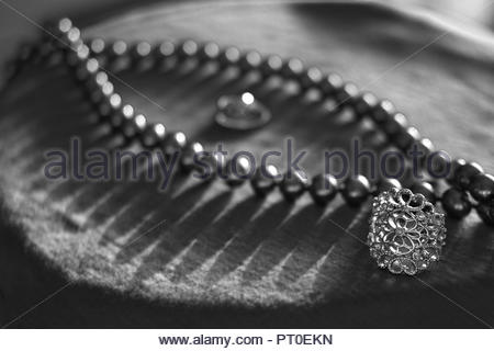 ARTISTIC COMPOSITION OF WOMEN'S JEWELLERY AND STYLE, ATHENS, GREECE - Stock Photo