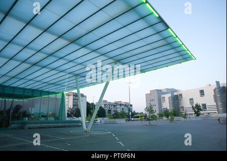 Wien, Parkplatz eines Supermarkts in Floridsdorf - Stock Photo