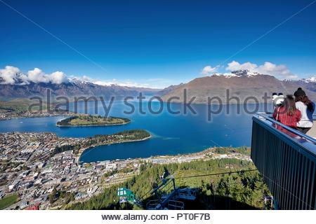 Queenstown Lake Wakatipu. Otago New Zealand - Stock Photo