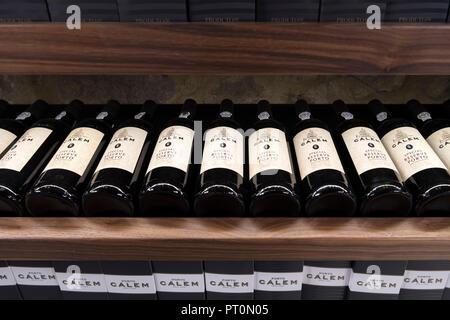 Special reserve port wine on sale at the store in the Porto Calem Wine Lodge, Vila Nova de Gaia, Porto, Portugal - Stock Photo