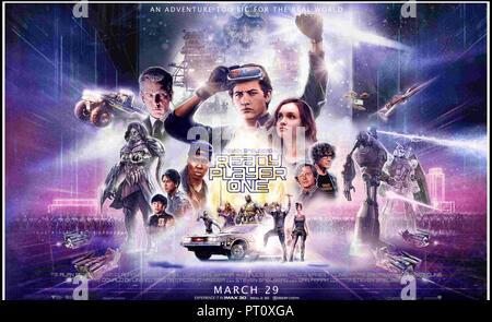Prod DB © Warner Bros. - Village Roadshow Pictures - Amblin Entertainment - De Line Pictures - DreamWorks / DR READY PLAYER ONE de Steven Spielberg 20 - Stock Photo