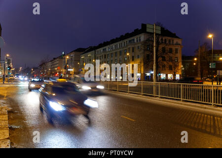HELSINKI, FINLAND-December 15, 2016: Winter morning view with Christmas lighting and at the market area in Helsinki. - Stock Photo