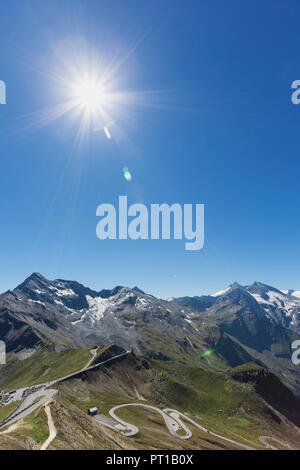 Austria, Grossglockner High Alpine Road, view from Edelweissspitze to Grossglockner - Stock Photo