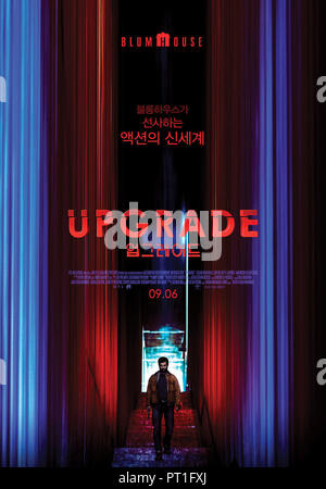 Prod DB © Blumhouse Productions - Goalpost Pictures / DR UPGRADE de Leigh Whannell 2018 AUST. affiche coreenne Logan Marshall-Green Melanie Vallejo Be - Stock Photo