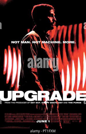 Prod DB © Blumhouse Productions - Goalpost Pictures / DR UPGRADE de Leigh Whannell 2018 AUST. affiche americaine Logan Marshall-Green Melanie Vallejo - Stock Photo