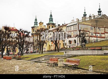 Market Square in Przemysl. Poland - Stock Photo