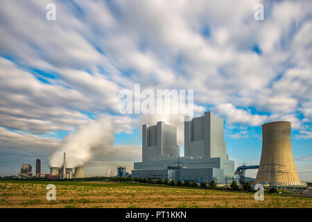 Germany, Grevenbroich-Neurath, old and new Neurath Power Station - Stock Photo