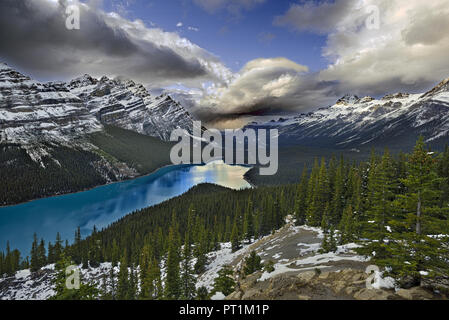 Peyto lake, Banff NP, Canada - Stock Photo