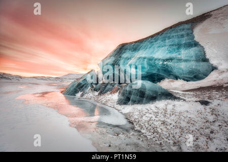 Moraine in central Spitsbergen, Svalbard, Norway - Stock Photo
